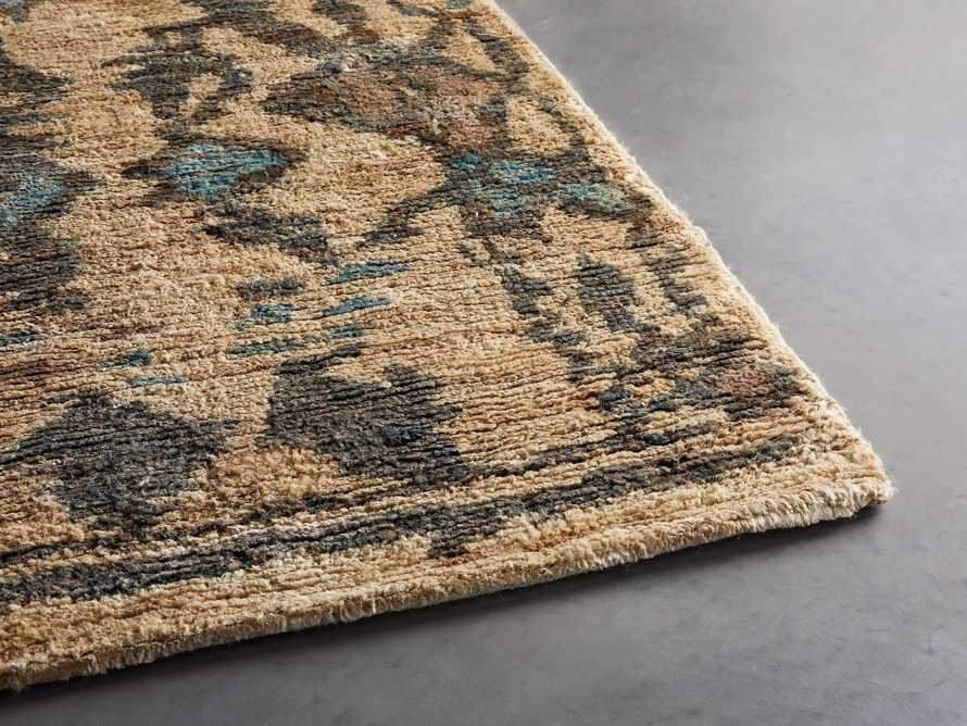 Naria 6' x 9' Hand-Knotted Rug in Turquoise, slide 3 of 6