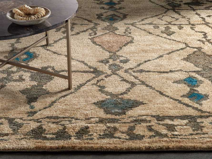 Naria 6' x 9' Hand-Knotted Rug in Turquoise, slide 1 of 6