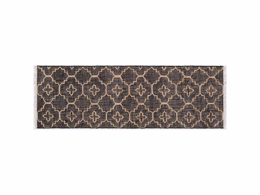 "Rosine 2' 6"" X 8' Natural Fiber Medallion Runner In Black"