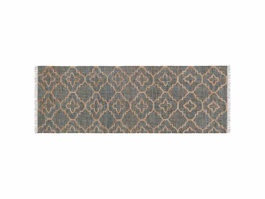 "Rosine 2' 6"" X 8' Natural Fiber Medallion Runner In Moss"