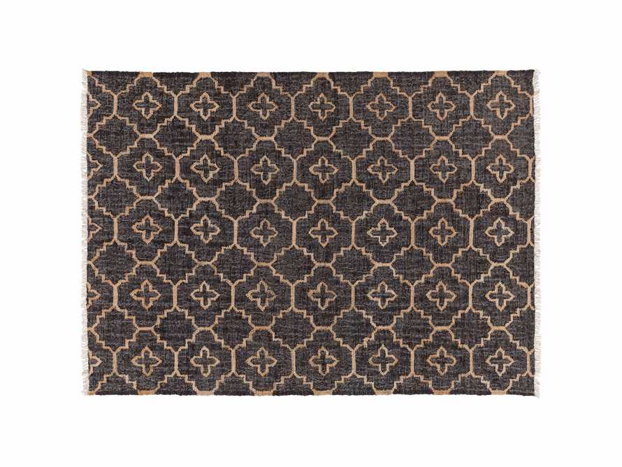 Rosine 8' X 10' Natural Fiber Medallion Rug In Black