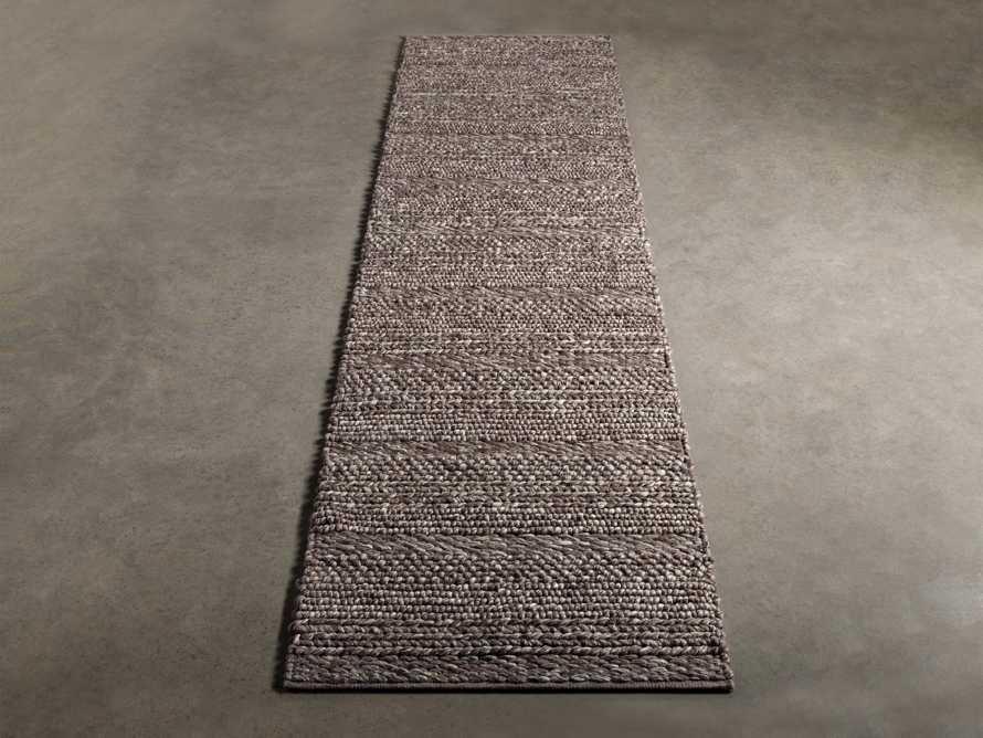 """Solana Hand Woven 2'6"""" x 10' Runner in Grey, slide 2 of 3"""