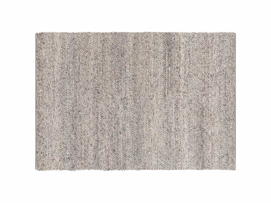Solana Hand Woven 3' x 5' Rug in Light Grey