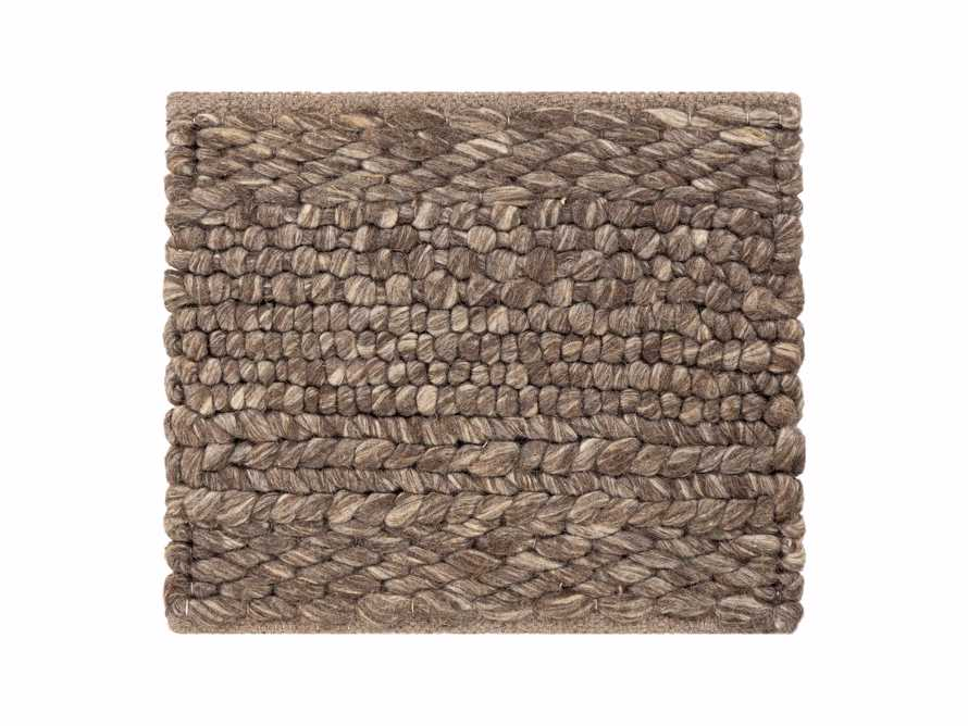"""Solana Hand Woven 18"""" Rug Swatch in Grey"""