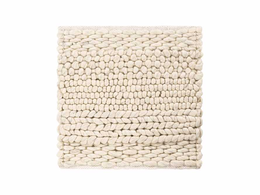 "Solana Hand Woven 18"" Rug Swatch in Ivory, slide 1 of 1"