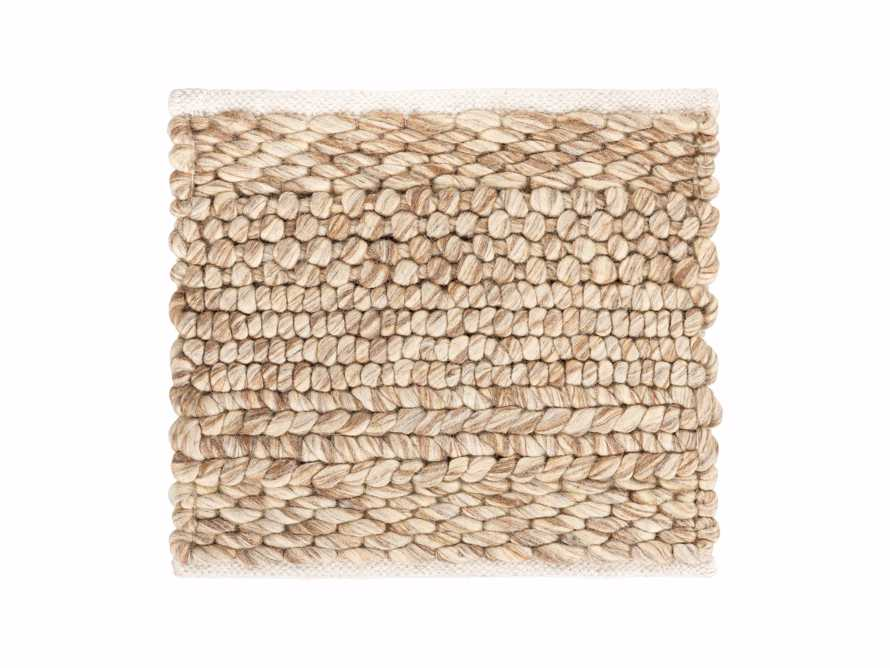 "Solana Hand Woven 18"" Rug Swatch in Natural"