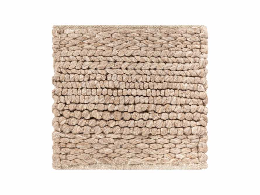 """Solana Hand Woven 18"""" Rug Swatch in Taupe"""