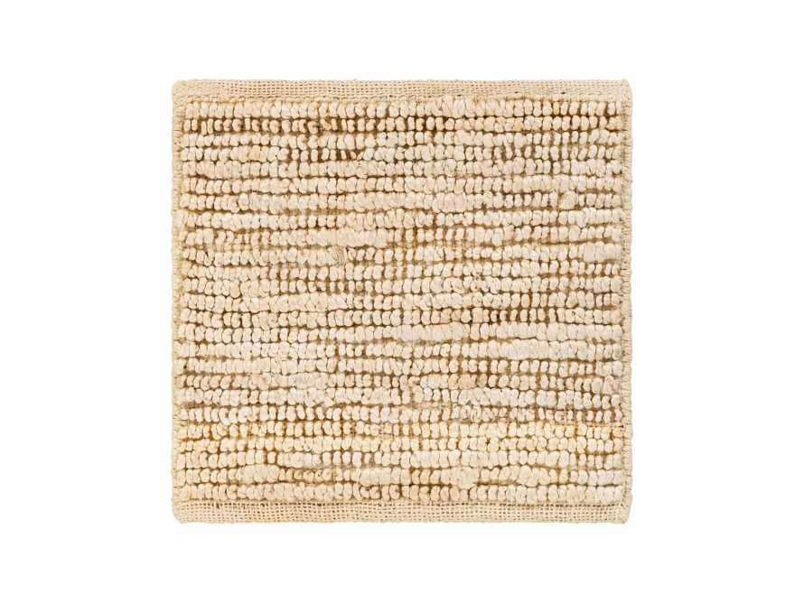 "Theo Jute 18"" Rug Swatch in Beige"