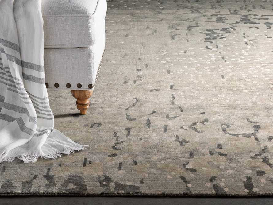 Yumi 5' X 8' Hand Knotted Rug in Grey, slide 1 of 4