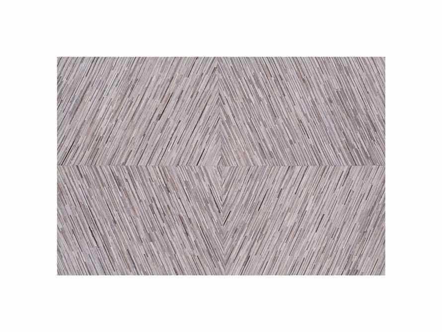 Zander 5' X 8' Hair on Hide Grey Rug, slide 5 of 5