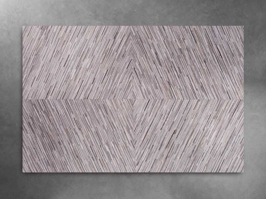 Zander 5' X 8' Hair on Hide Grey Rug, slide 3 of 5
