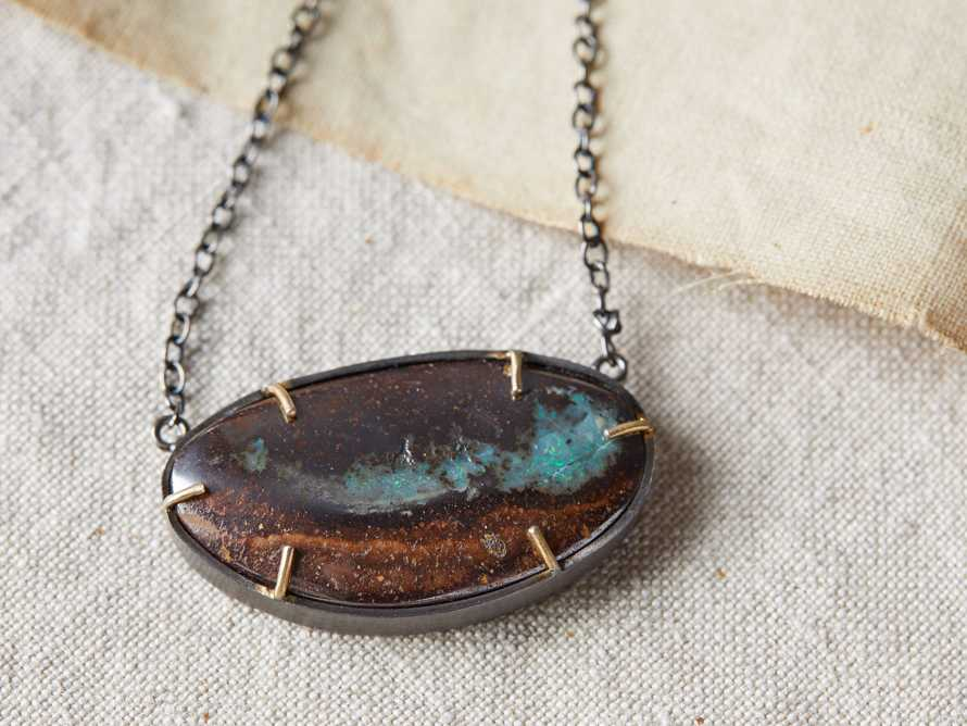 Boulder Opal Necklace, slide 2 of 3
