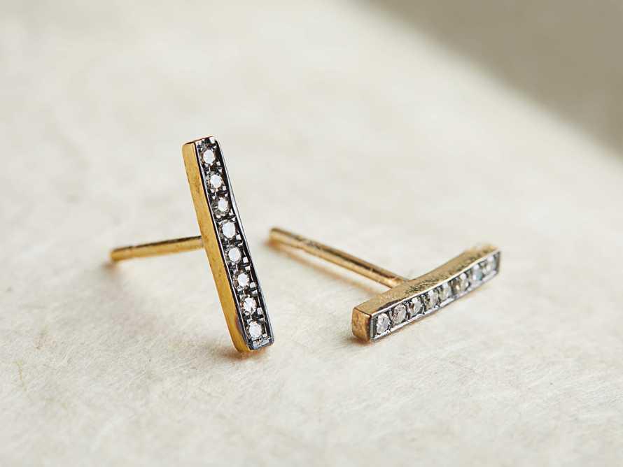 ADAIR DIAMOND BAR EARRINGS, slide 1 of 1