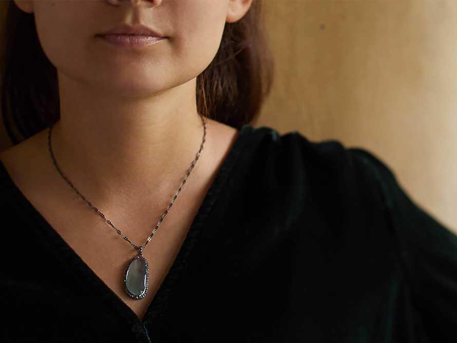Diamond and Aqua Necklace