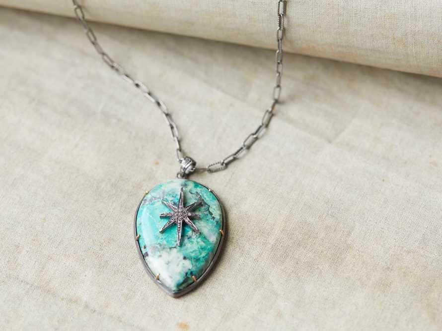 Diamond Chrysocolla Necklace, slide 1 of 2