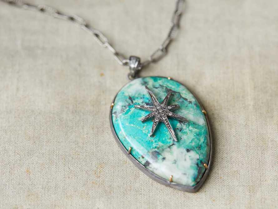 Diamond Chrysocolla Necklace, slide 2 of 2
