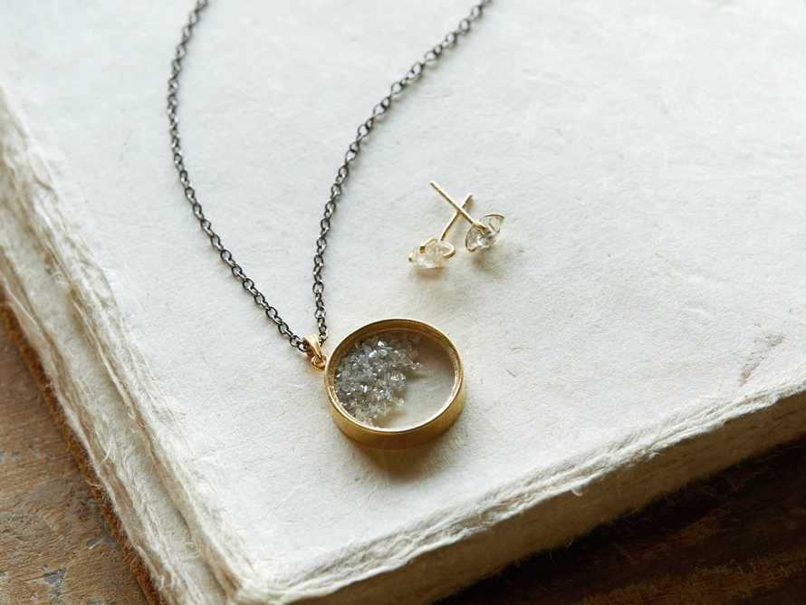 Diamond Shaker Pendant Necklace
