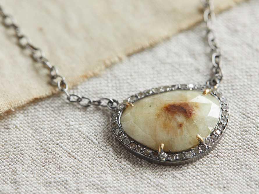 Diamond Sapphire Necklace, slide 2 of 2