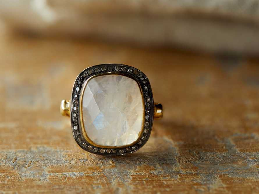 Evening Star Moonstone Ring Size 6, slide 2 of 3