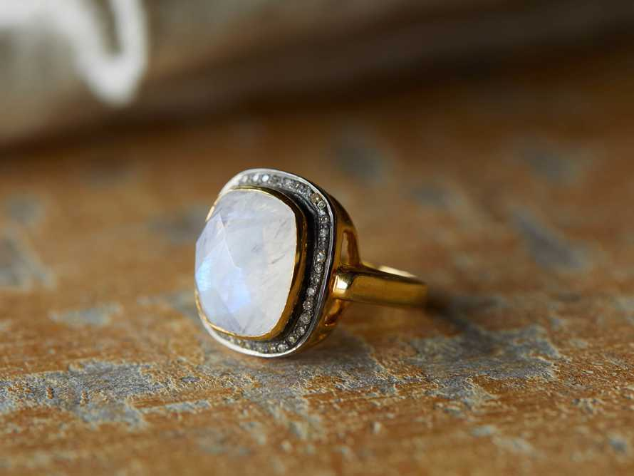 Evening Star Moonstone Ring Size 6, slide 1 of 3