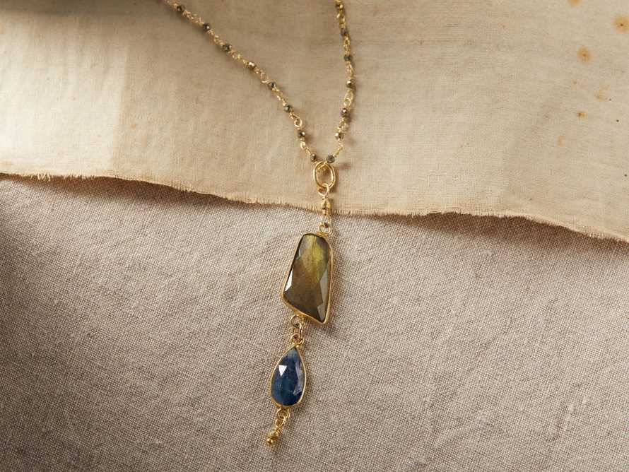 Indira Labradorite Necklace, slide 1 of 4