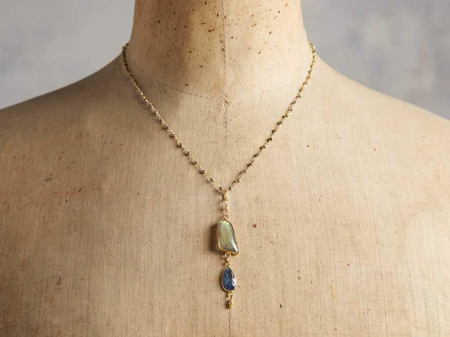 Indira Labradorite Necklace, slide 3 of 4