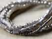 Lena Silver Tone and Grey Seed Bead Bracelet