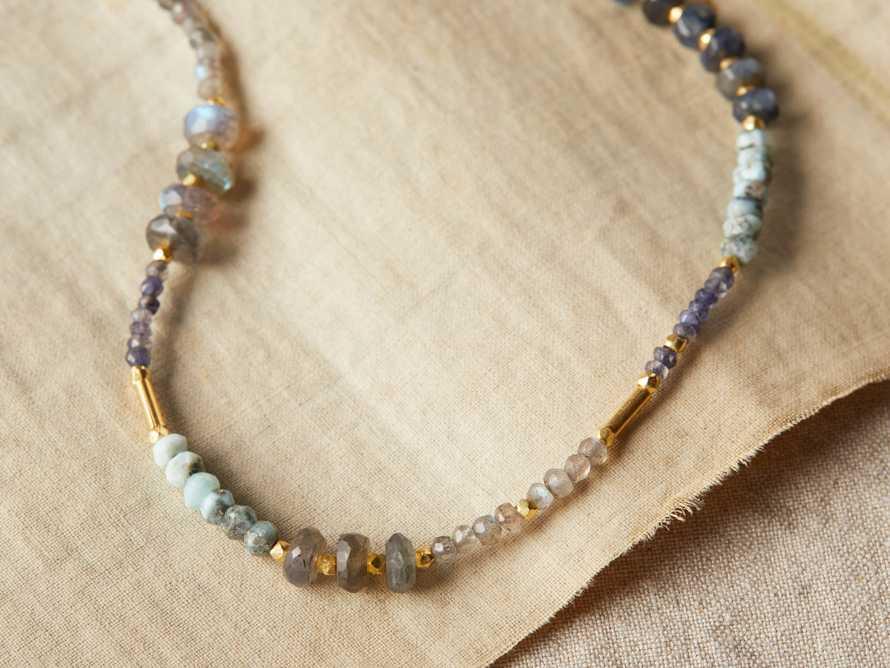 Marisol Labradorite Necklace, slide 1 of 3