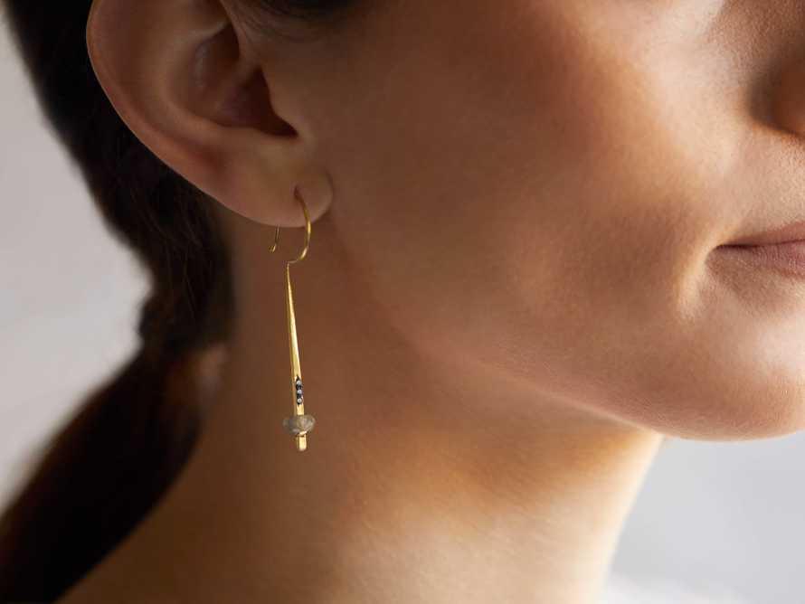 Mia Two Tone Metal Earrings