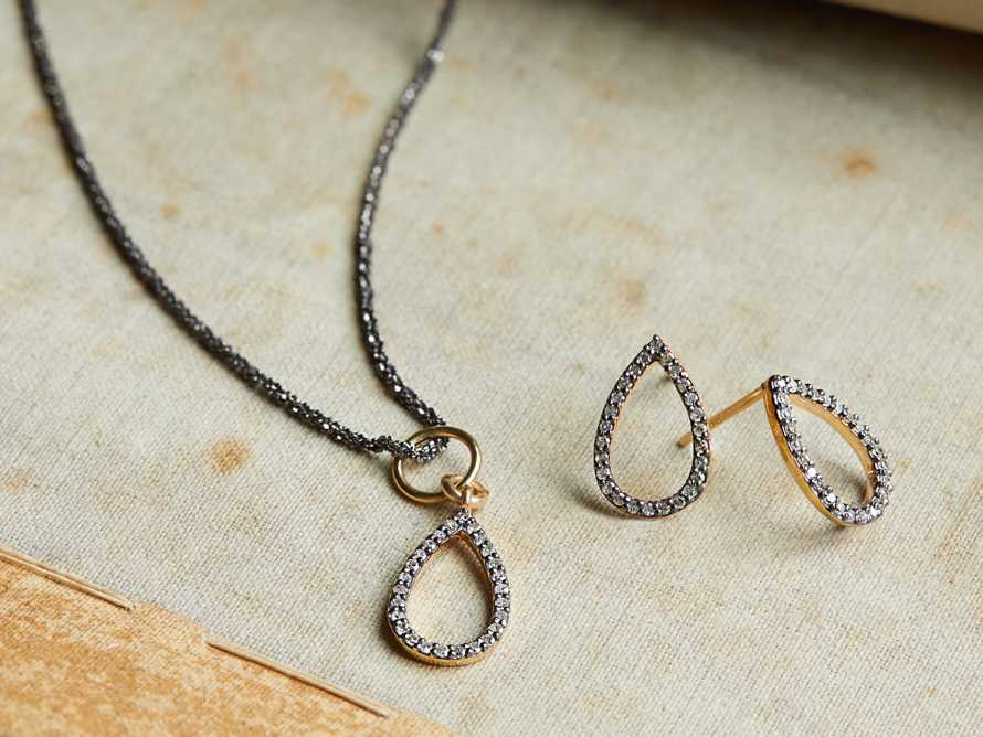 NOVA PAVE DIAMOND EARRINGS, slide 2 of 2