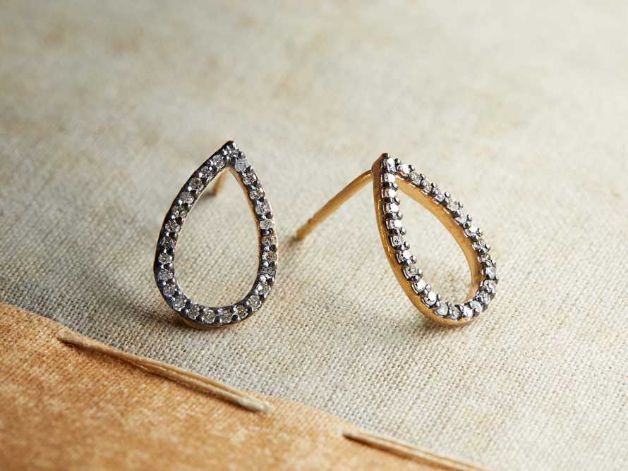 NOVA PAVE DIAMOND EARRINGS, slide 1 of 2