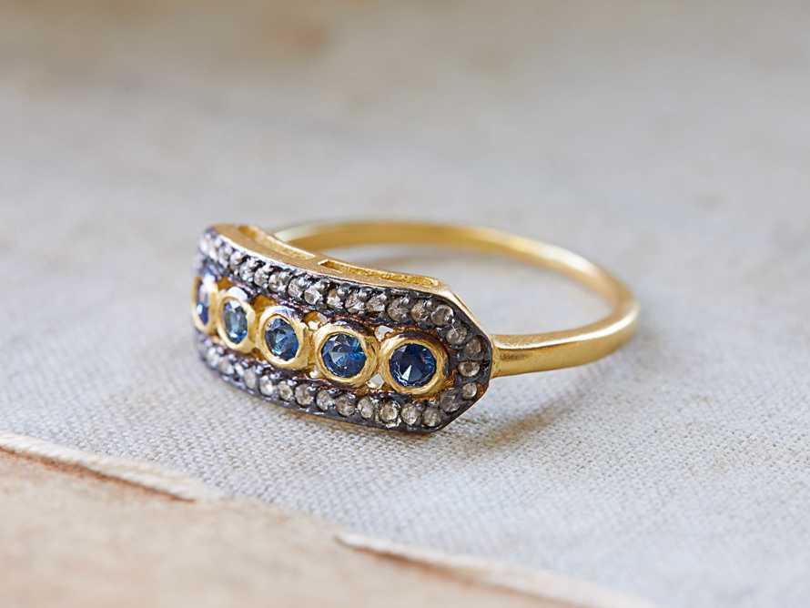 size 8 Sapphire Diamond Ring, slide 1 of 1