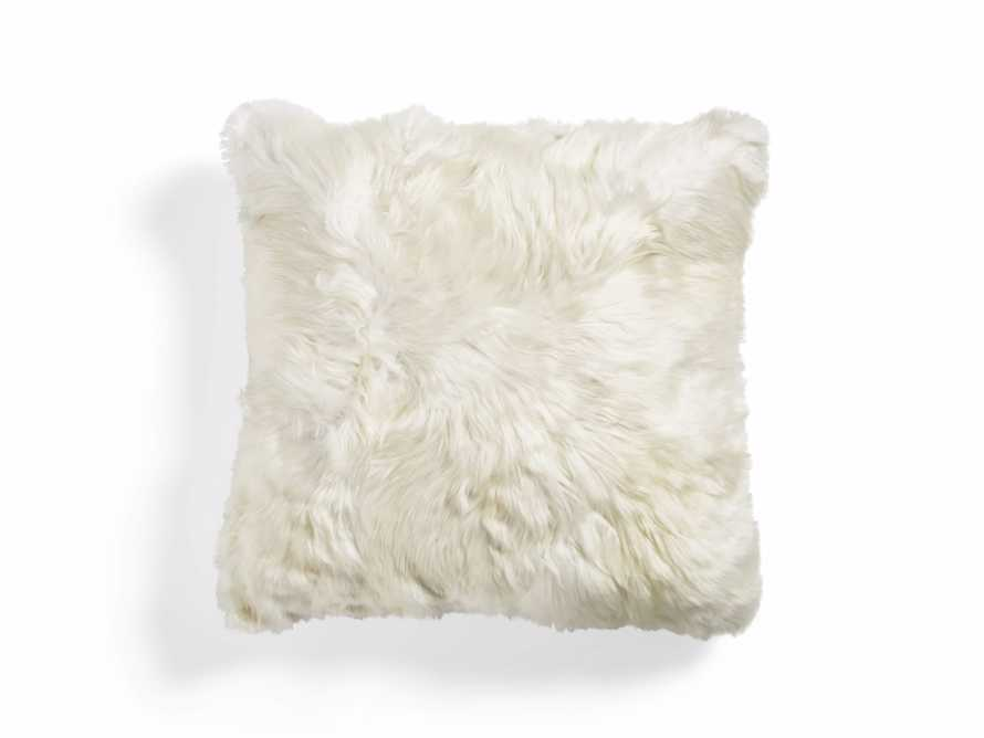ALPACA SQUARE PILLOW COVER IN IVORY, slide 1 of 4