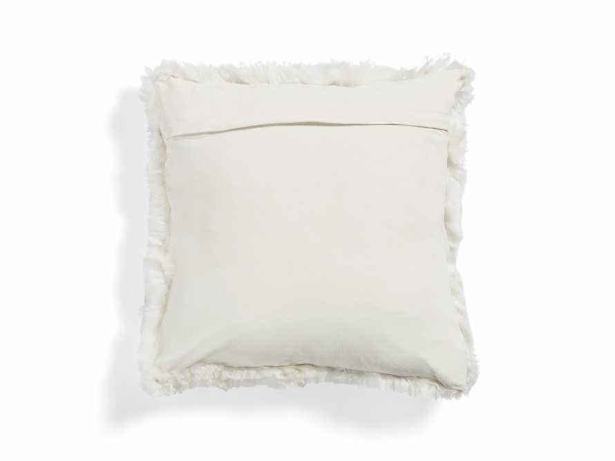 ALPACA SQUARE PILLOW COVER IN IVORY, slide 2 of 4