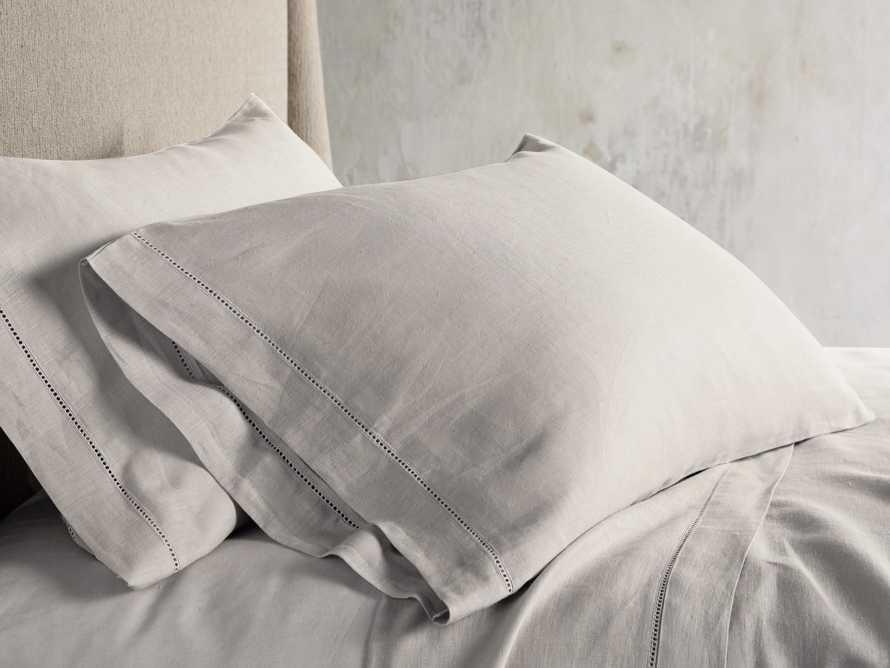 Ava Standard Hem-Stitch Pillow Case in Fawn