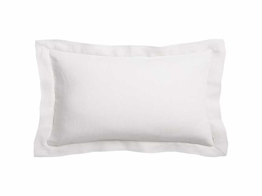 Ava King Hem-Stitch Sham in White
