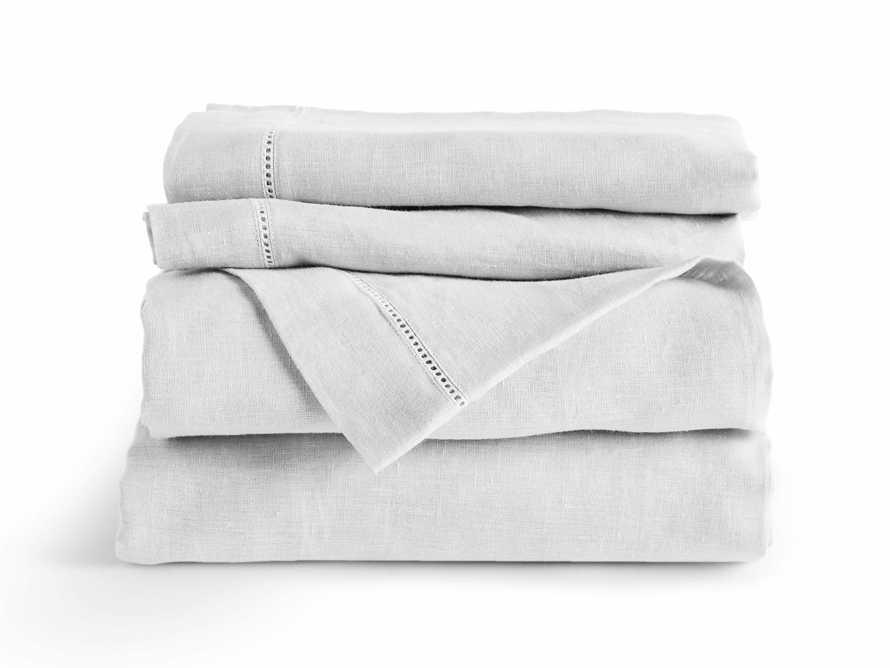 Ava Queen Hem-Stitch Flat Sheet in White
