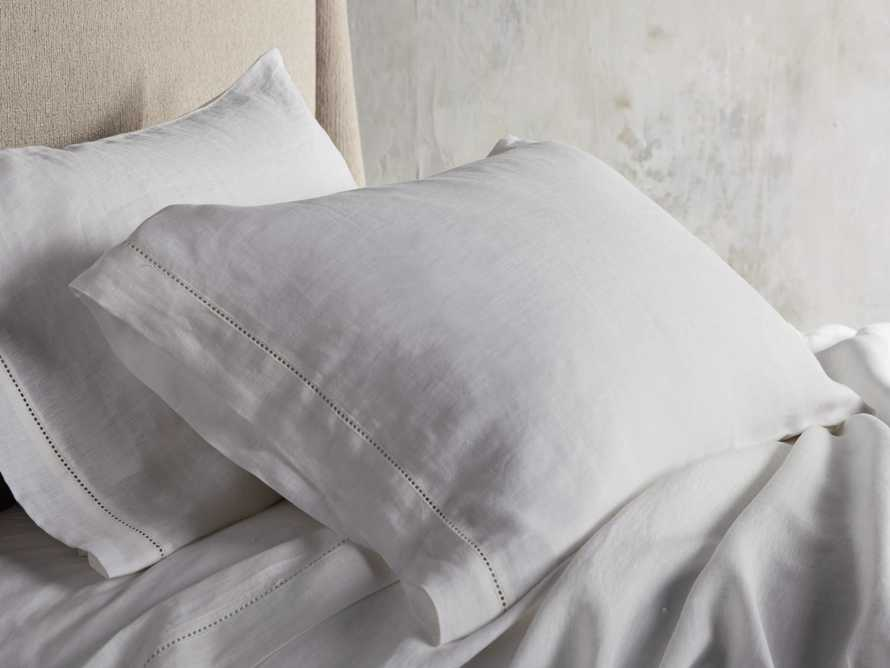 Ava Standard Hem-Stitch Pillow Case in White