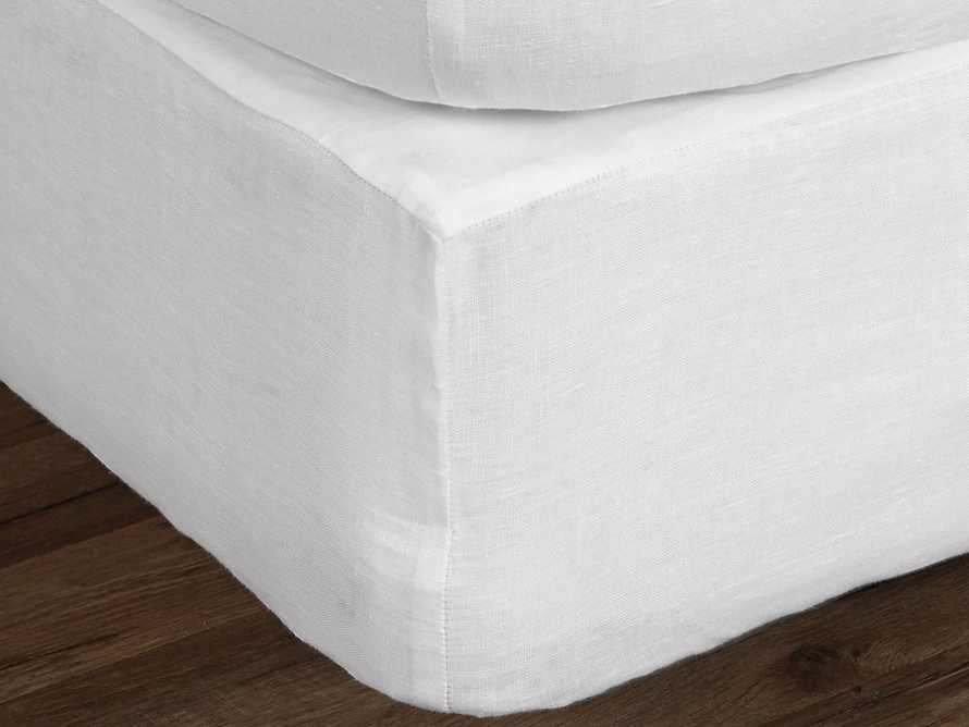 Ava King Box Spring Cover in White