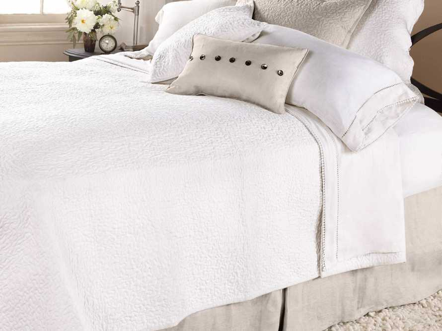 Ava King Fitted Sheet In White