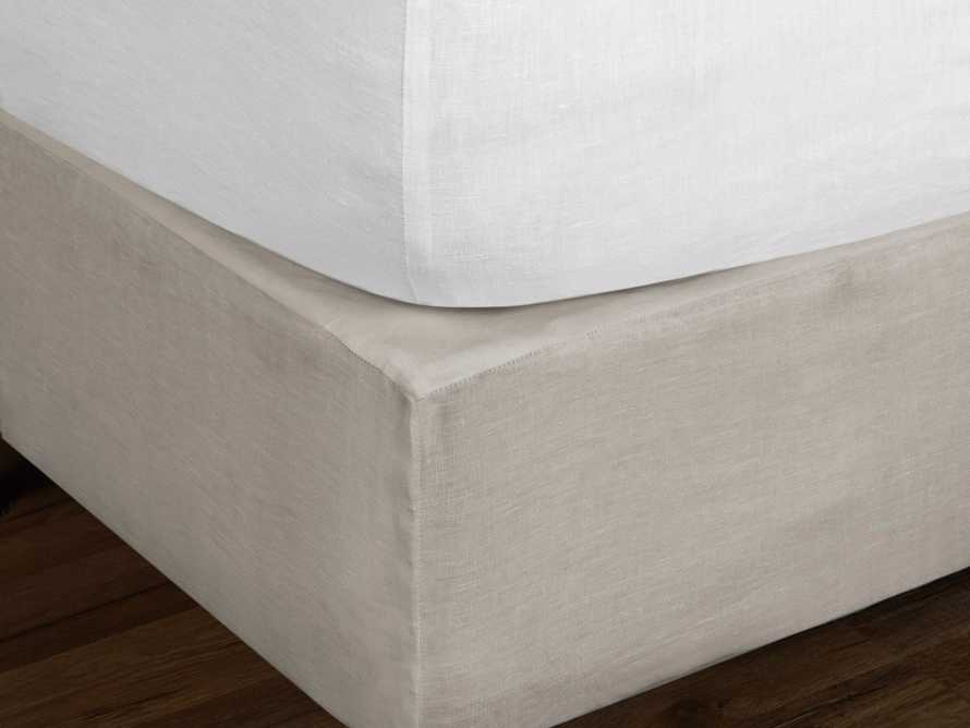 Ava Queen Fitted Sheet In White