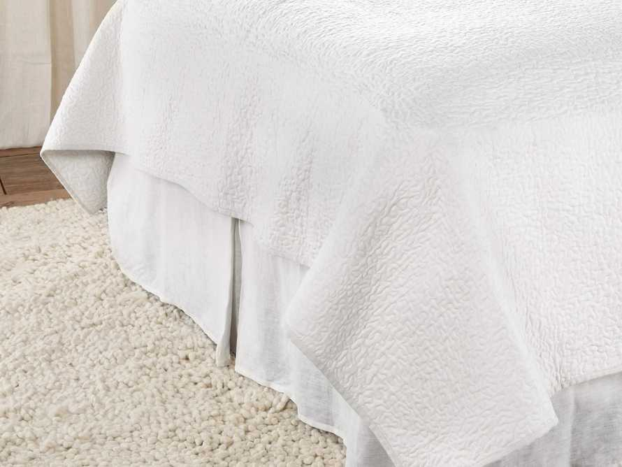 Ava Queen Kick Pleat Bed Skirt In White