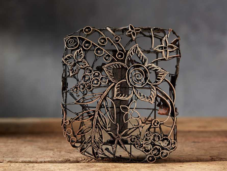 Metal Batik Stamp with Aged Finish, slide 1 of 10