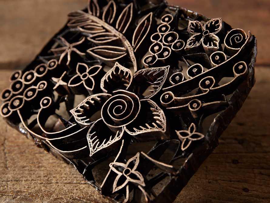 Metal Batik Stamp with Aged Finish, slide 2 of 10