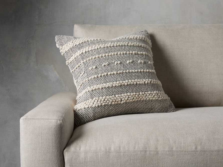 Boho Striped Knot Pillow in Ivory
