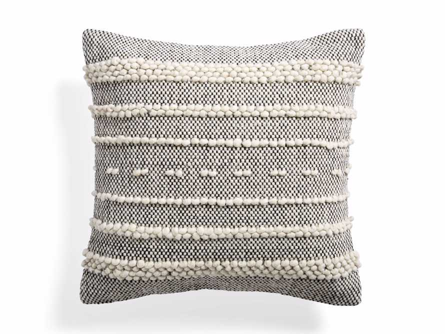 BOHO SQUARE PILLOW COVER IN IVORY, slide 1 of 4