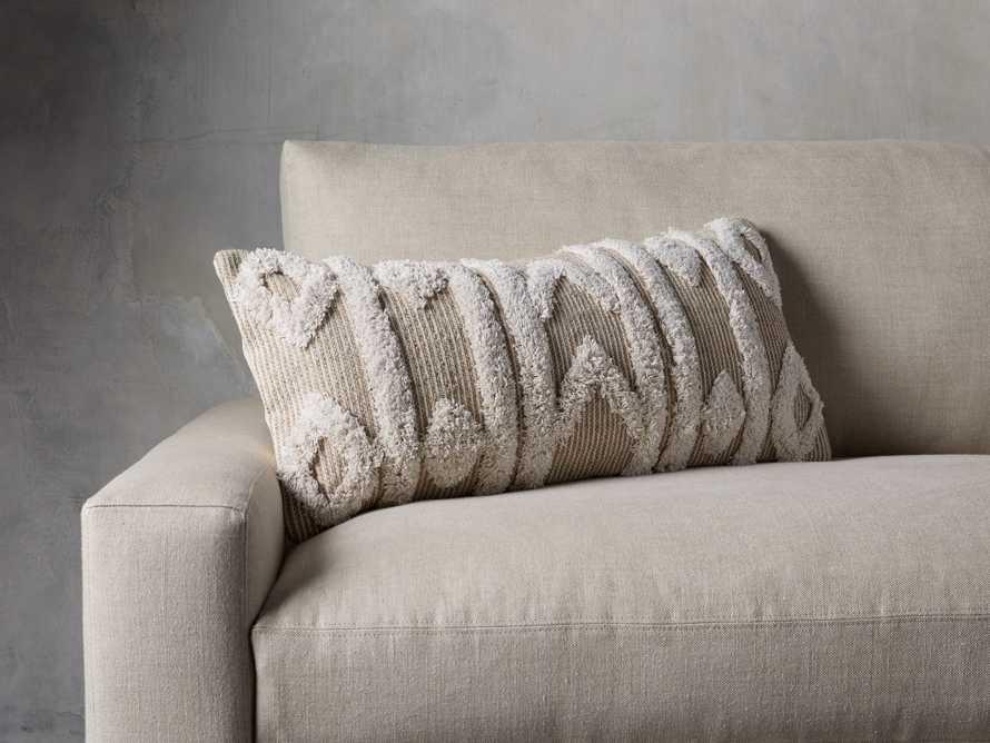 Boho Ivory Fringe Oversized Lumbar Pillow