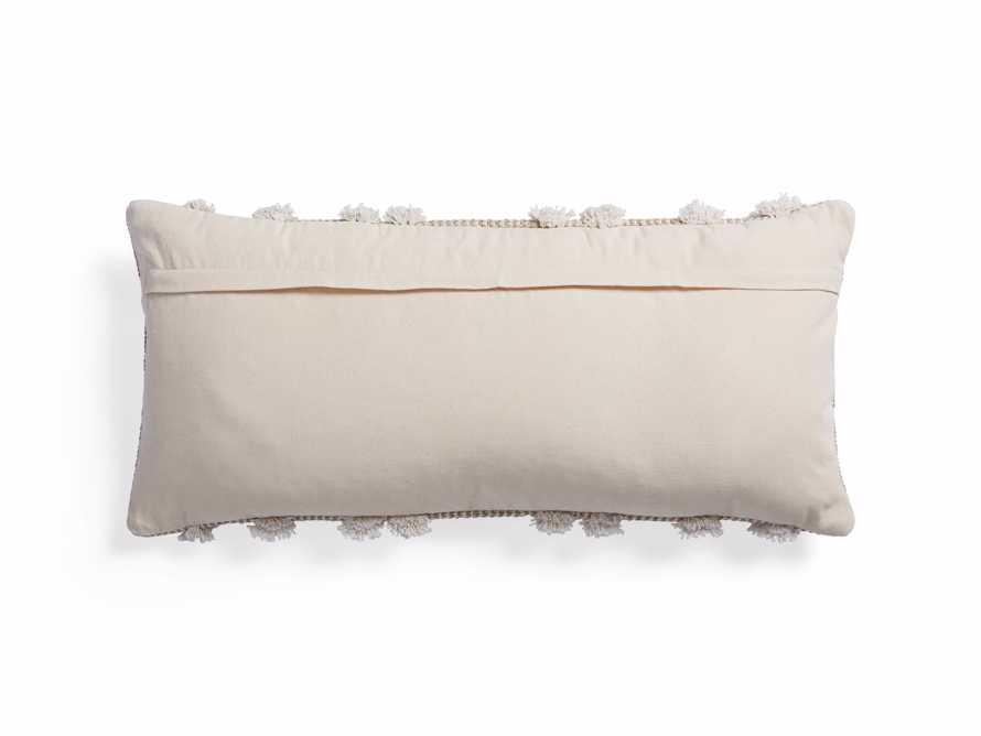 Boho Ivory Fringe Oversized Lumbar Pillow, slide 2 of 7