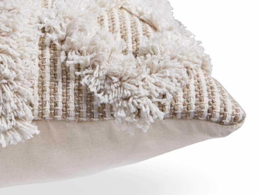 Boho Ivory Fringe Oversized Lumbar Pillow, slide 3 of 7