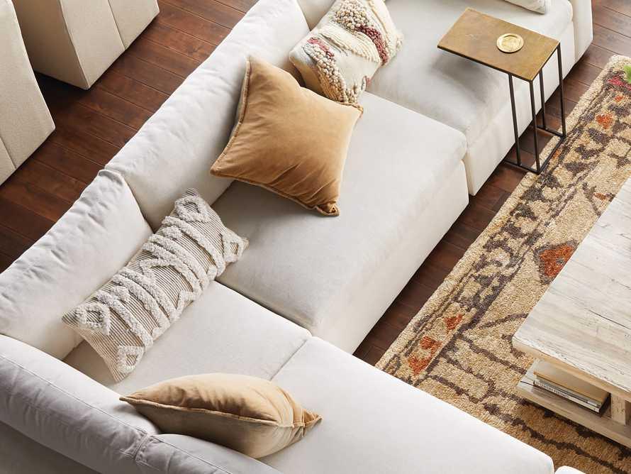 Boho Ivory Fringe Oversized Lumbar Pillow, slide 4 of 9
